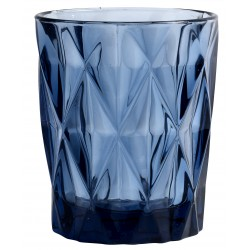 Vaso de cristal diamon azul 250 ml